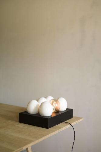 Lampe création Egg Box